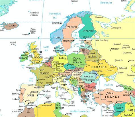european seas map europe physical map freeworldmaps net extraordinary of