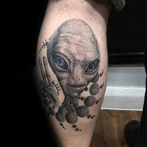 geometric ufo tattoo 70 alien tattoo designs for men extraterrestrial ink ideas