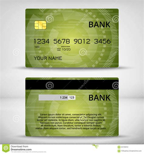 Credit Card Design Template Vector Templates Of Credit Cards Design Stock Vector Image 64725912