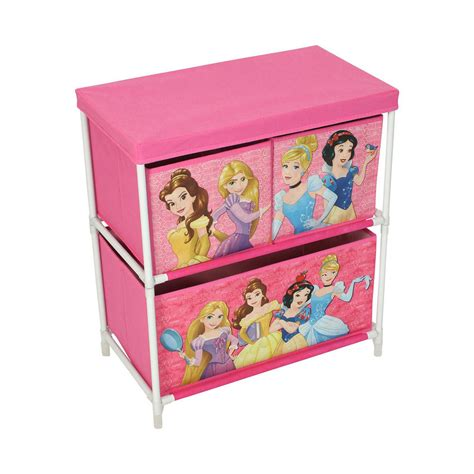 Disney Bedroom Furniture Uk Disney Princesses Storage Box 3 Drawers Bedroom Furniture