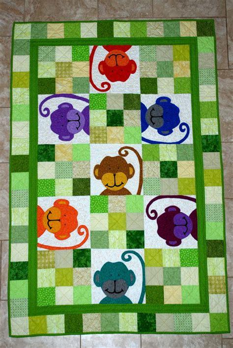 quilt pattern monkey baby quilt monkey theme