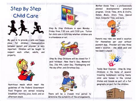 child care brochure templates inside of brochure software used to create brochure is