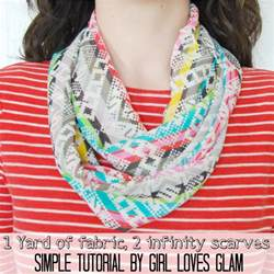 How To Make Infinity Scarves How To Make A Simple Infinity Scarf Glam