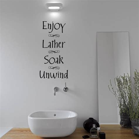 bathroom wall sticker by mirrorin notonthehighstreet