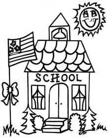 school house color page schoolhouse clip cliparts co