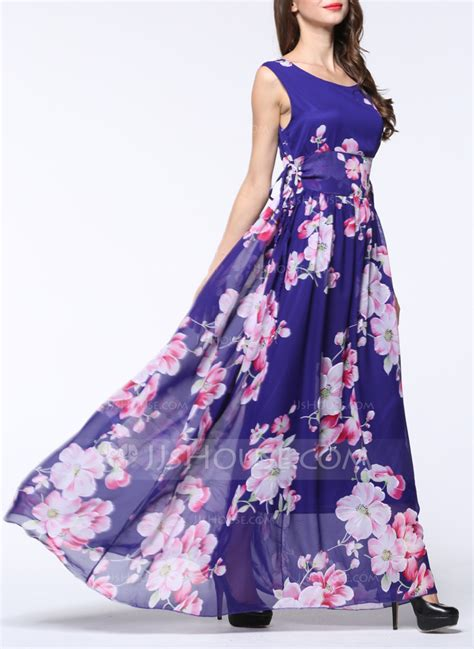 chiffon with print maxi dress 199129092 fashion