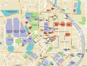 Downtown Atlanta Map by Atlanta Georgia Sightseeing Attractions