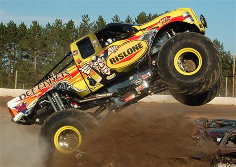 monster truck racing association father and son monster truck drivers take home hardware at