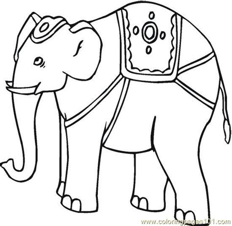 indian elephant coloring page asian indian elephant coloring pages