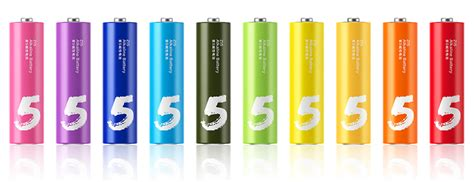Original Xiaomi Zi5 Rechargable Alkaline Aa Battery 6jm2 original xiaomi mi rainbow colourful aa aaa battery batteries with crayons styled colors 10 pcs