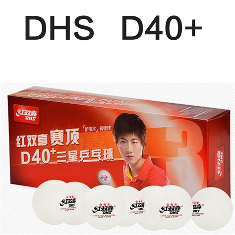 Bola Ping Pong Dhs 3 Three Isi 6 Bola Pimpong Ori Murah new dhs d40 tournament use 3 d40 new material seamed pp table tennis ping