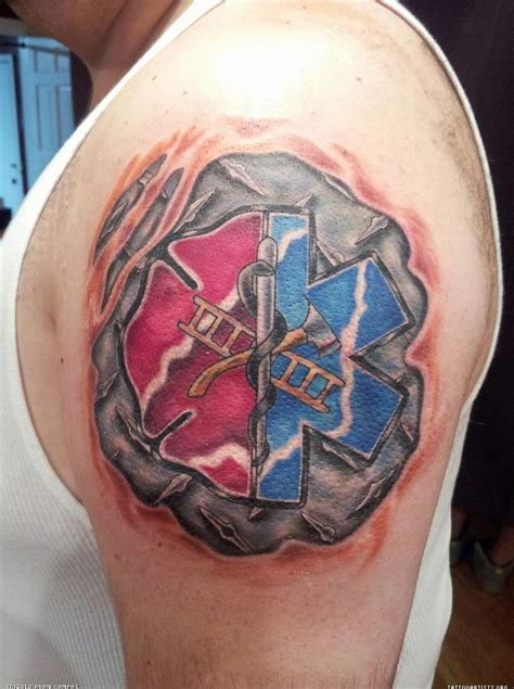 firefighter tribal tattoos 45 best paramedic stencil images on