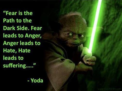 Yoda Quotes Fear Leads To Anger