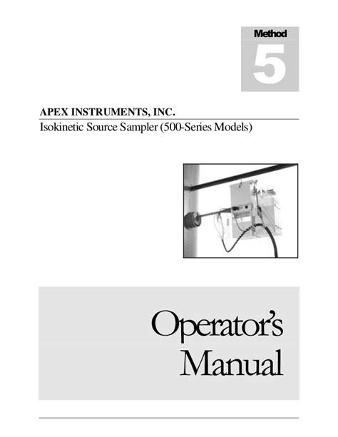 model 500 series manual