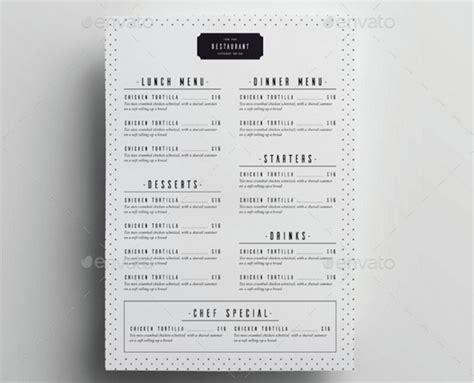 Top 30 Free Restaurant Menu Psd Templates In 2018 Colorlib Minimal Menu Template