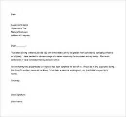 Resignation Letter Format With Reason by Resignation Letter Formats 13 Free Word Excel Pdf