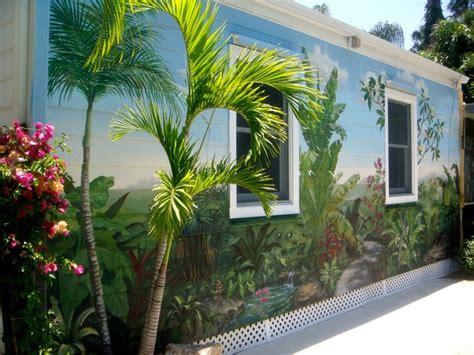 exterior wall mural exterior wall after tropical mural arte studio