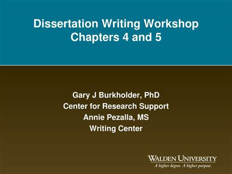 dissertation workshop ppt dissertation writing workshop chapters 4 and 5