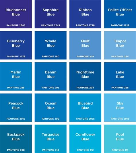 blue colors names pantone colours in 2019 color thesaurus color wheels
