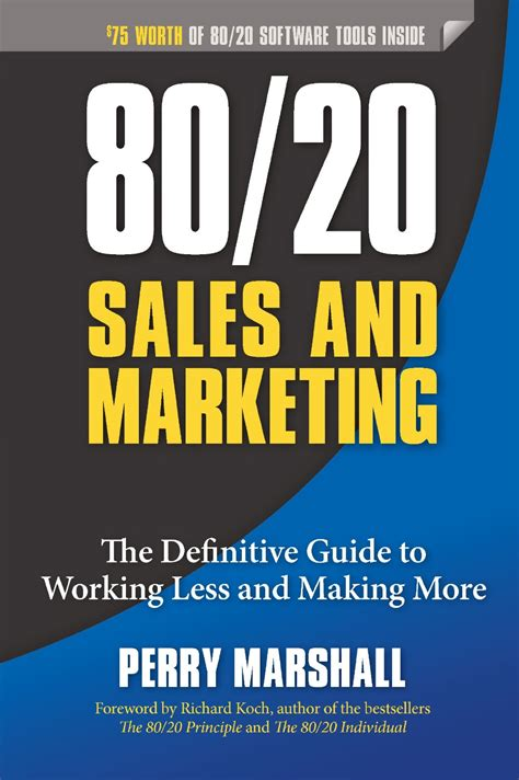 the marketer books perry marshall 80 20 sell more by achieving enough