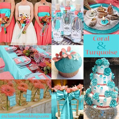 and turquoise decorations turquoise wedding color seven combinations