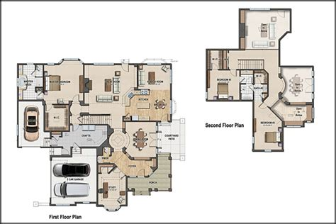 Colored Floor Plans by Color 2d Graphics Floor Plans