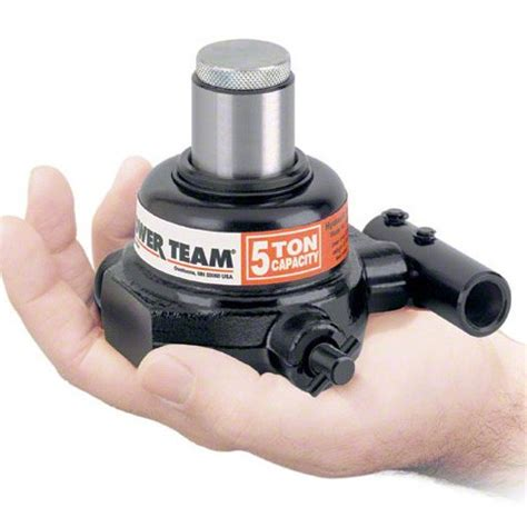 10 ton power team miniature bottle jack with 30mm stroke