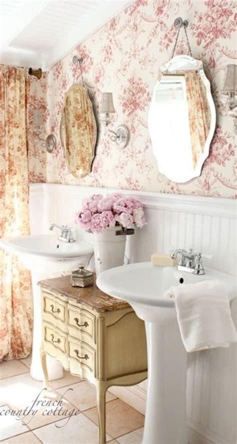 french country bathroom decorating ideas add glamour with small vintage bathroom ideas
