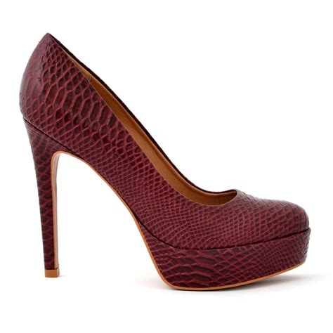 Coloured Patterned Heels | buy online heels stilettos elegant maroon color