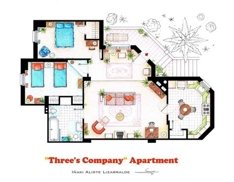 detailed floor plan drawings of popular tv and homes