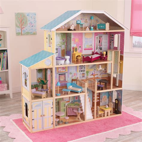 kid kraft doll houses kidkraft majestic 4 story mansion dollhouse 65252 toy dollhouses at hayneedle