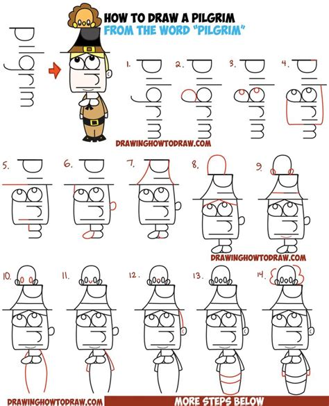 How To Draw A Pilgrim Step By Step