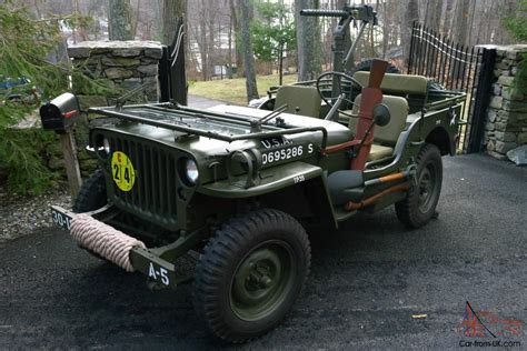 willys army jeep 1945 willys mb wwii military jeep army antique