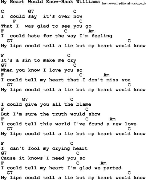 my lyrics williams country my would hank williams lyrics and