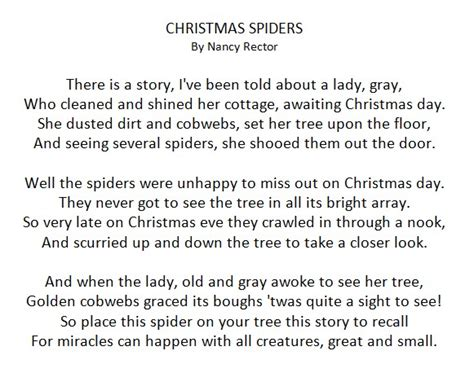 printable christmas tree story you can make these elegant and simple christmas spiders