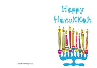 happy hanukkah card template hanukkah colouring pages