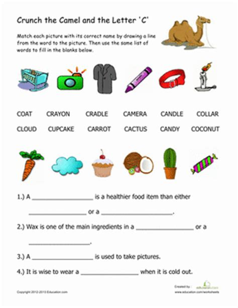 2 letter words with c words that begin with quot c quot worksheet education 1009