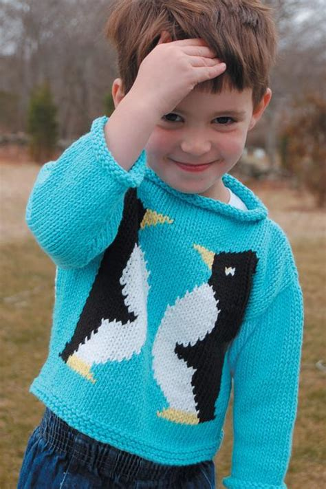 Knitting Pattern Penguin Jumper | penguin sweater to knit k2 20 by val love craftsy