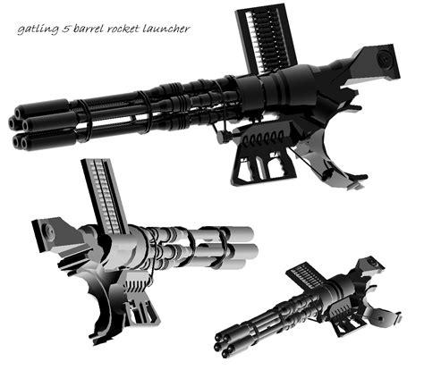 Raket Sniper 2000 5 barrel rocket launcher by malmida on deviantart