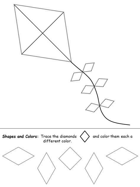 diamond coloring pages preschool shapes recognition practice worksheet preschool letter