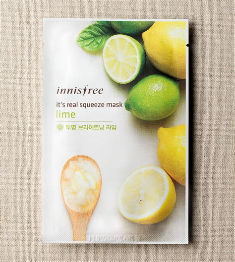 Inisfree Its Real Mask skin care it s real squeeze mask lime innisfree