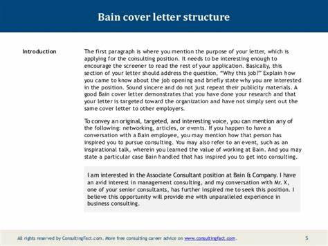 bain cover letter sample - Bain Cover Letter