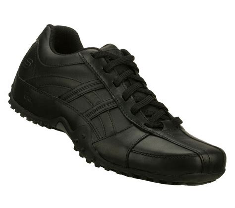 Skechers Non Slip by 76832 Black Skechers Occupational Work New Mens Rockland