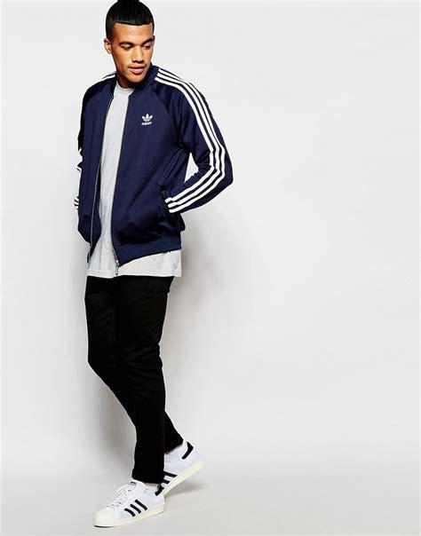 Jaket Jacket Adidas Original 101 Popular Adidas Originals Superstar Track Jacket Blue