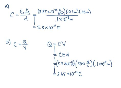 parallel capacitors problems introduction to physics an textbook