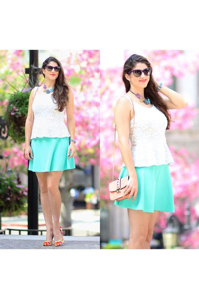 Rodeo Peplum white peplum lace express tops quot a morning on rodeo quot by lauralily chictopia