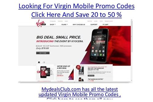 coupon code virgin mobile
