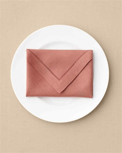 How To Fold Paper Napkins For A Dinner - how to fold a napkin 15 ways martha stewart