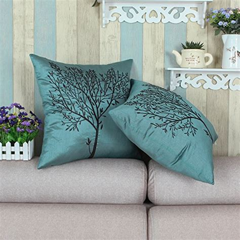 calitime cushion cover throw pillow case shell  sofa couch home decoration natural tree