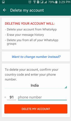 cancel android how to delete whatsapp account on android lollipop